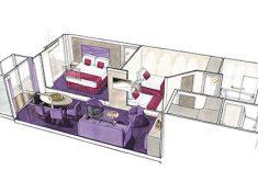 MSC Seaview Grand Suite mit zwei Schlafzimmern