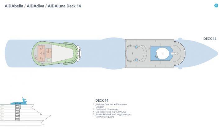 AIDAbella Deck 14