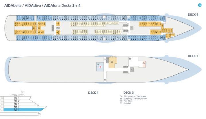 AIDAbella Deck 3 und 4