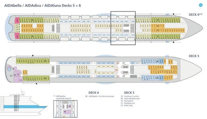 AIDAbella Deck 5 und 6