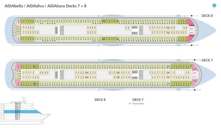 AIDAbella Deck 7 und 8