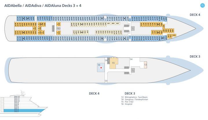 AIDAdiva Deck 3 und 4