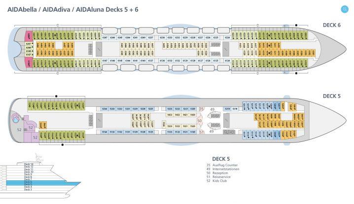 AIDAdiva Deck 5 und 6