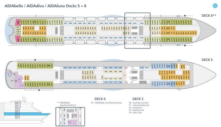 AIDAluna Deck 5 und 6