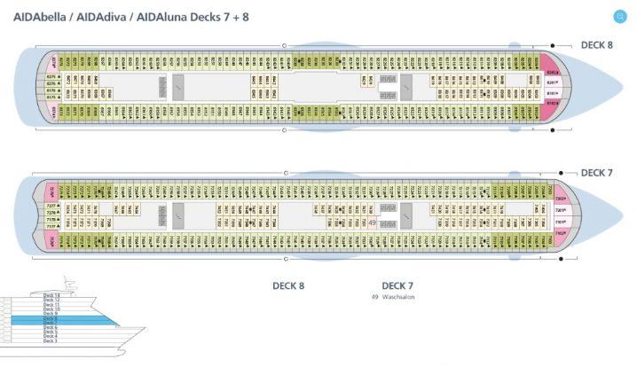 AIDAluna Deck 7 und 8