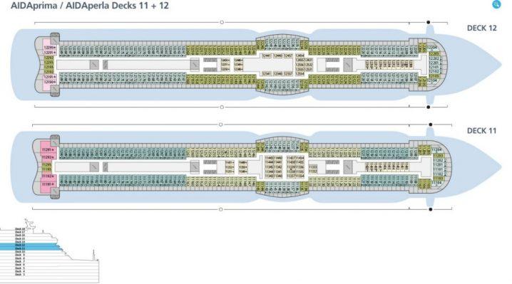 AIDAperla Deck 11 und 12
