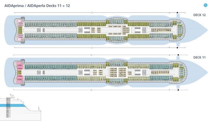 AIDAprima Deck 11 und 12