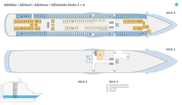 AIDAsol Decks 3 und 4