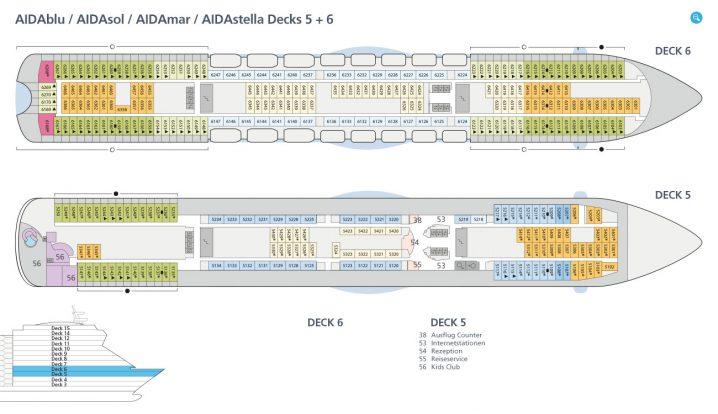 AIDAsol Decks 5 und 6