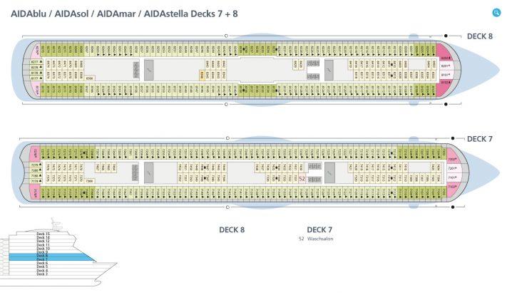 AIDAsol Decks 7 und 8