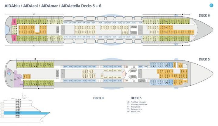 AIDAstella Deck 5 und 6