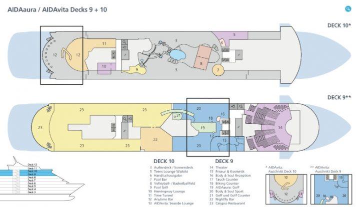 AIDAvita Deck 9 und 10