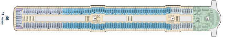 TUI Cruises Mein Schiff 5 Deck 11