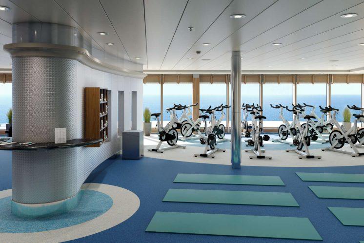 AIDAmira Fitnessbereich