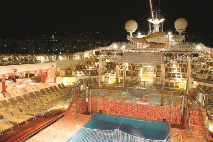 Costa Magica Deck Nacht