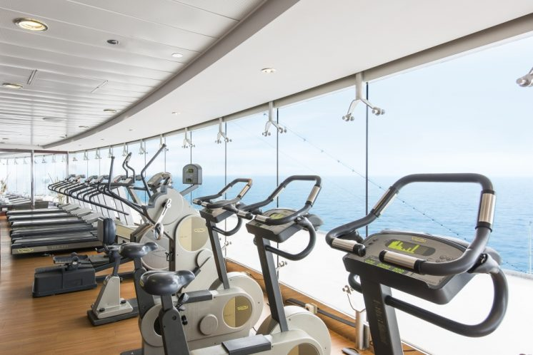 MSC Lirica Fitnessstudio Panoramafenster