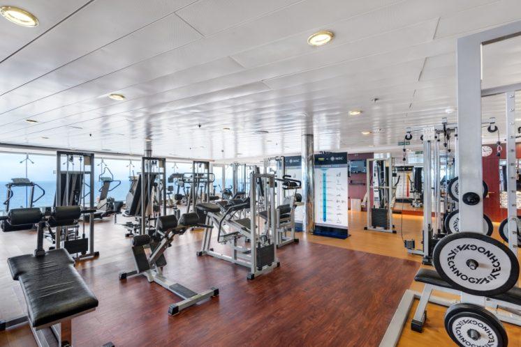 MSC Lirica Fitnessstudio