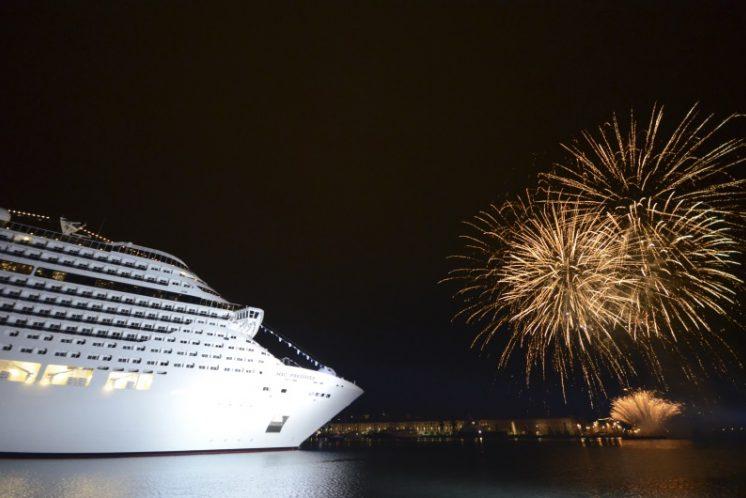 MSC Preziosa Feuerwerk